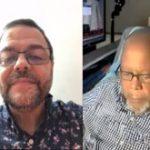 Sepulveda left and Stu Reid on WHCR FM 230